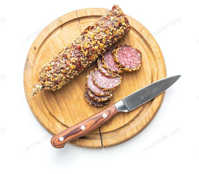 Spicy salami sausage