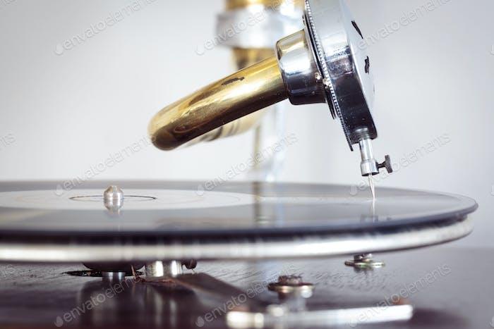 Plattennadel von einem Phonographen
