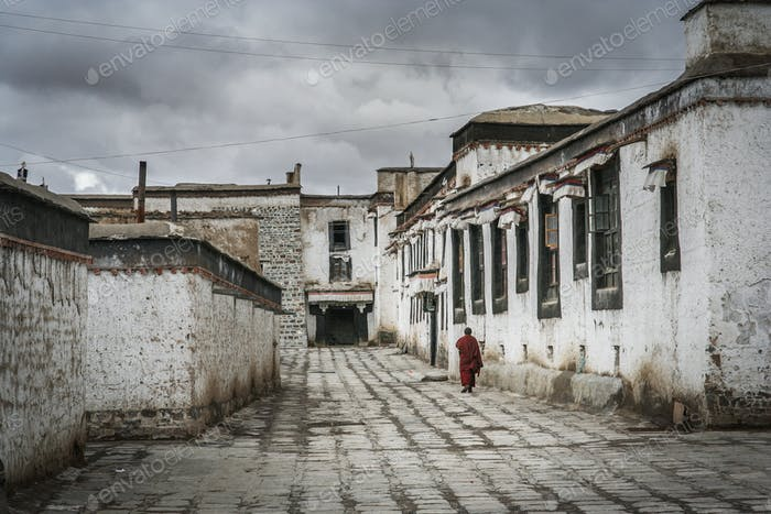 Tibetan Monastery in Shigatse in central Tibet