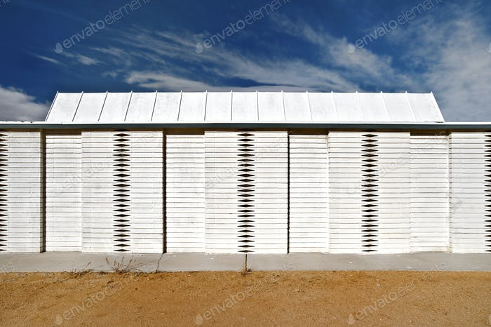 45885,White Wooden Fence and Roof