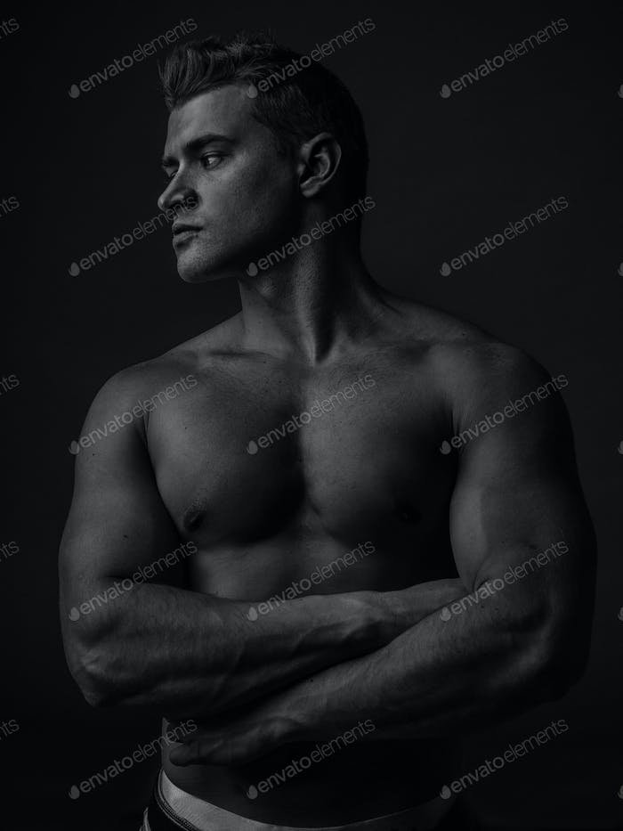 Portrait of a young caucasian male athlete