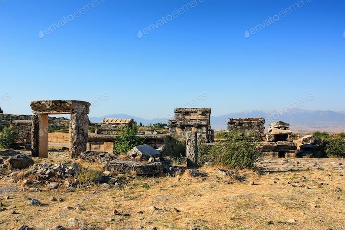 Nekropolis von Hierapolis antike Stadtansicht