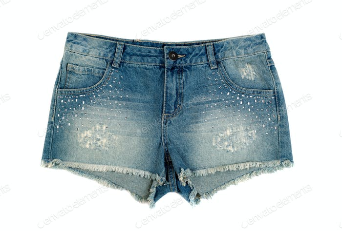 Kids denim shorts.
