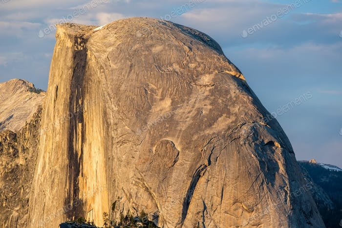 Half Dome rock formation in Yosemite National Park
