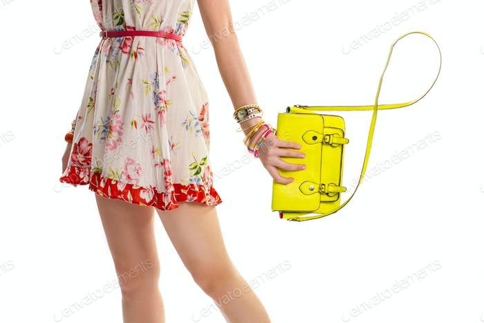 Female hand holds lime bag.