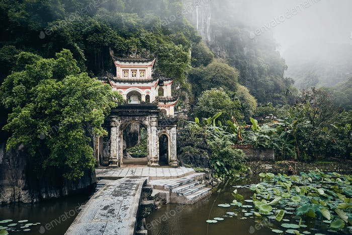 Old temple in the middle of Vietnamese nature