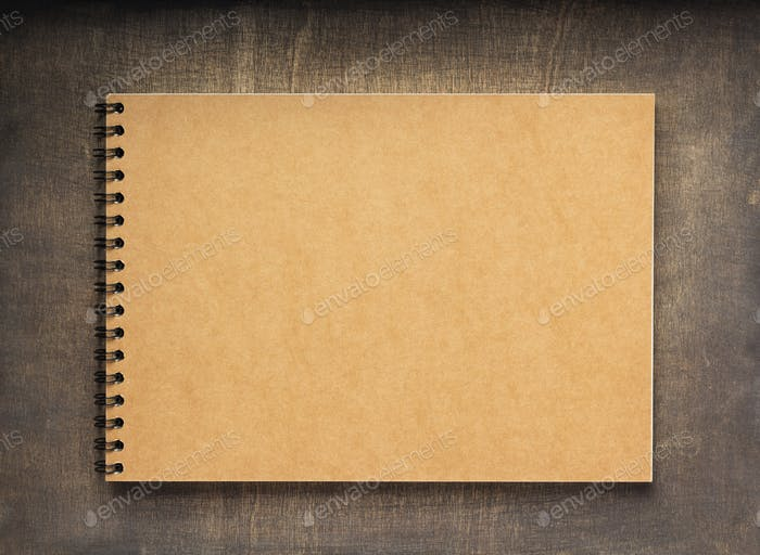notebook or book with empty pages