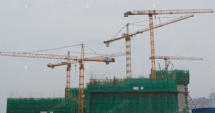 Austin, Hong Kong, 07 April 2018:-Construction site of building construction