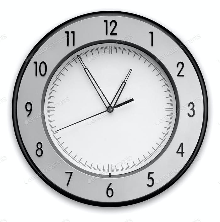 Wall Clock, isolated on white background