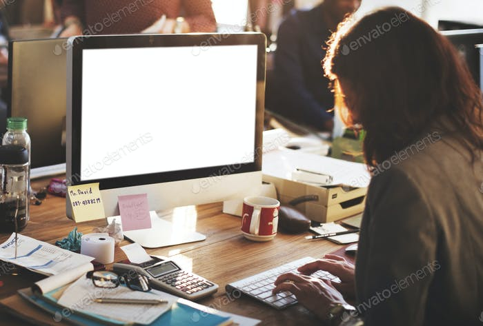 Mockup Copyspace Computer Notebook Laptop Concept