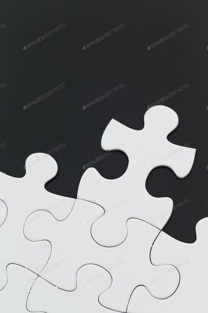 Puzzle on black