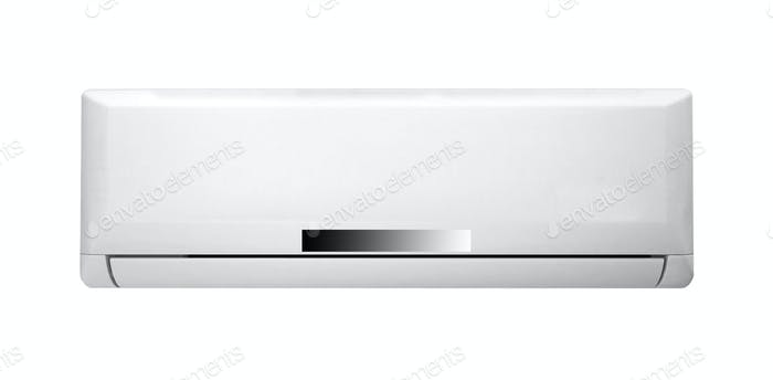 White color air conditioner machine isolated
