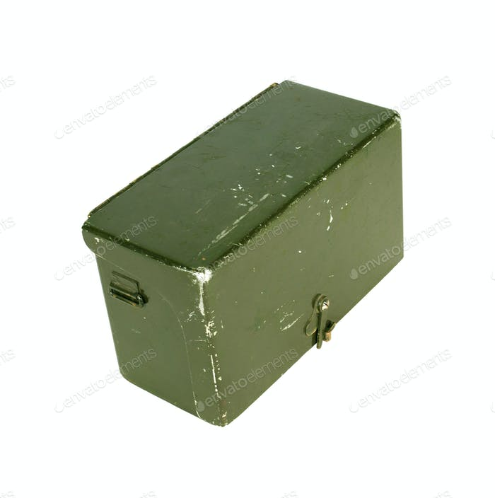 Metal army crate isolated