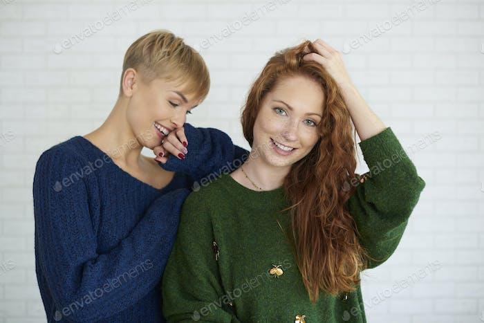 Shot of two beautiful girls