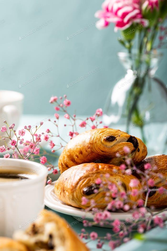 Mini frische Croissants Brötchen