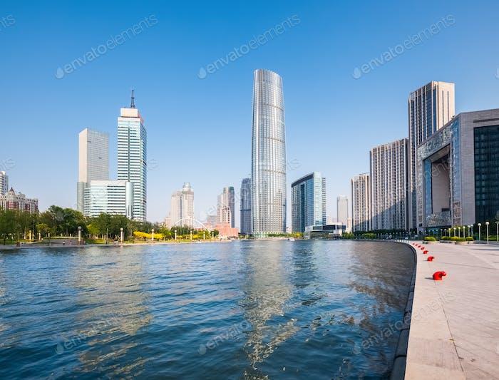 schöne Küstenstadt Tianjin