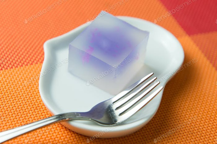 Colorful jelly dessert sweets