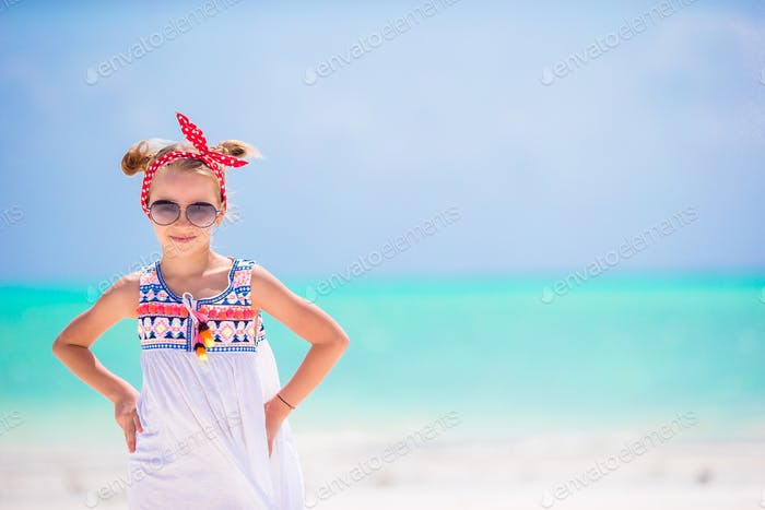 Portrait of little girl on the beach