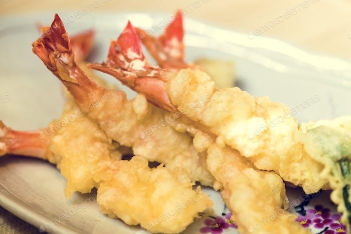 Prawn tempura famous dish japanese food