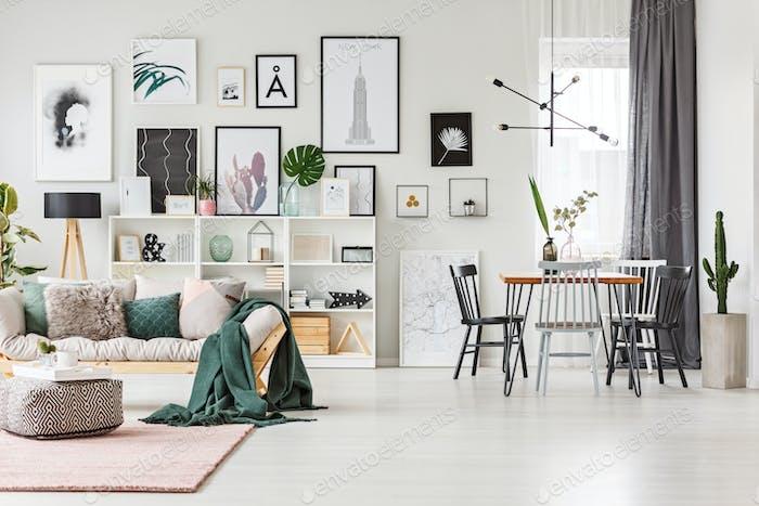 Sofa in multifunctional interior
