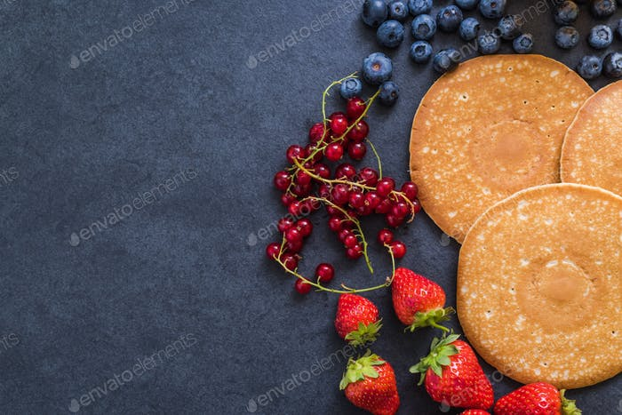 pancakes with berry fruits
