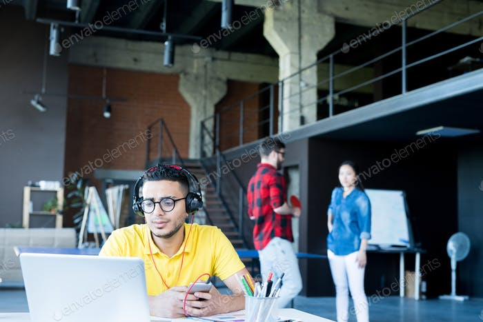 Contemporary Middle-Eastern Man in Office