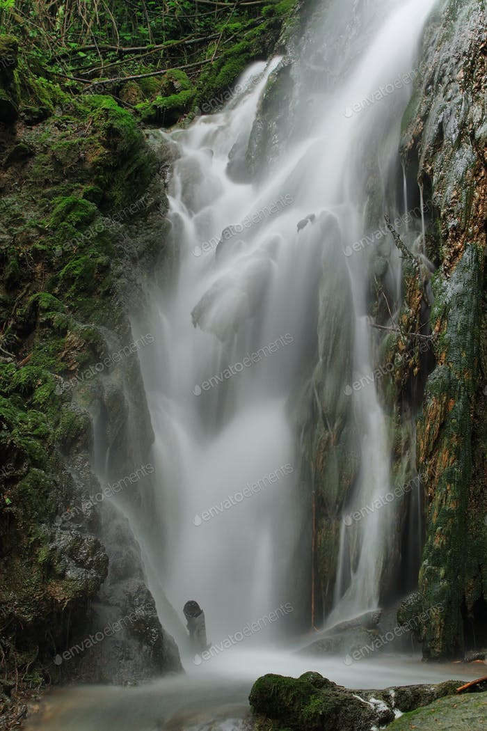Waterfall known as La Plana