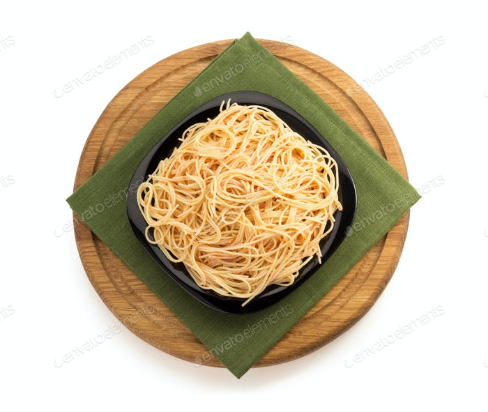 pasta spaghetti on white background