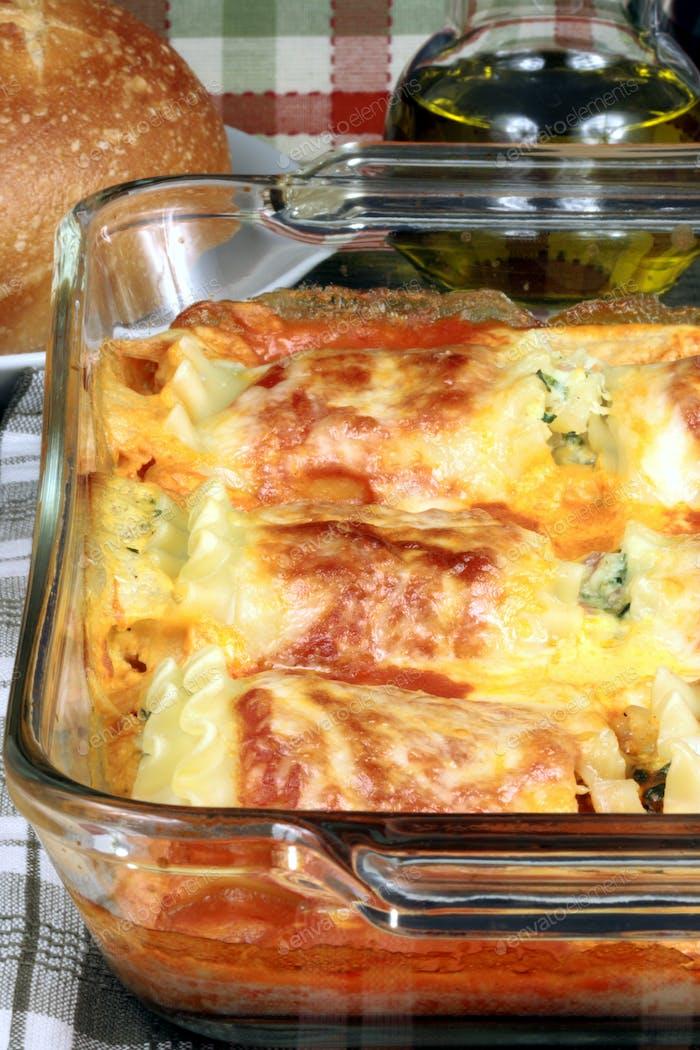 italian just baked lasagna