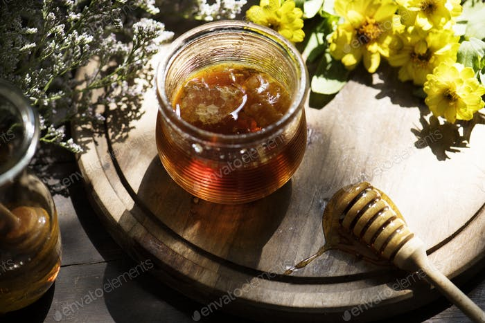 Bio-Honig Essen Fotografie Rezeptidee