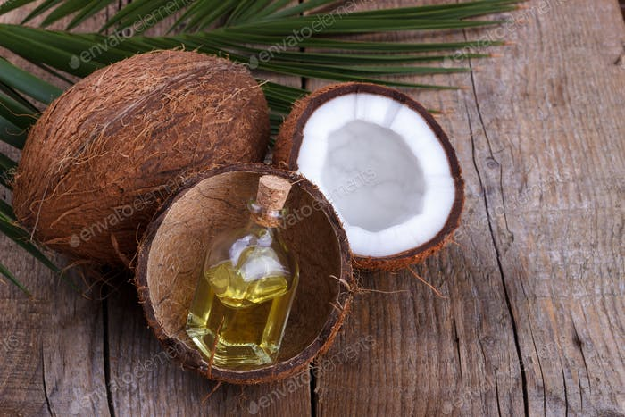 Coconut oil in shell