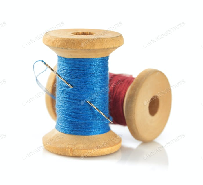 spool of thread isolated on white