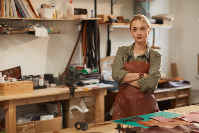 Female Artisan With Arms Crossed