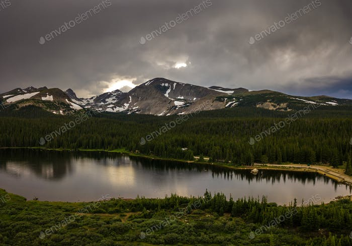 Brainard Lake after Sunset
