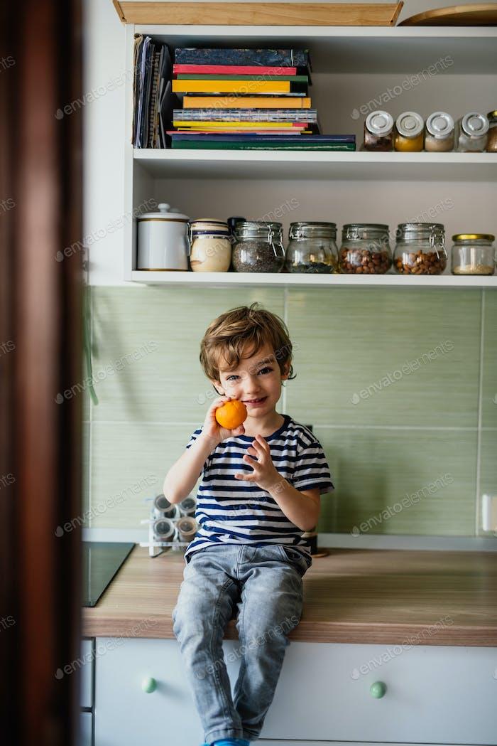 Holding orange