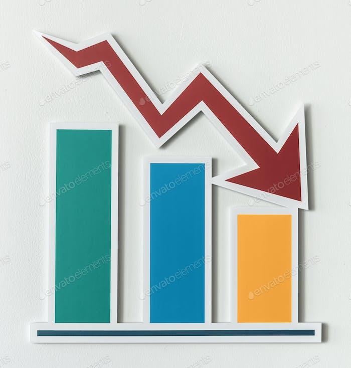 Declining business report bar chart