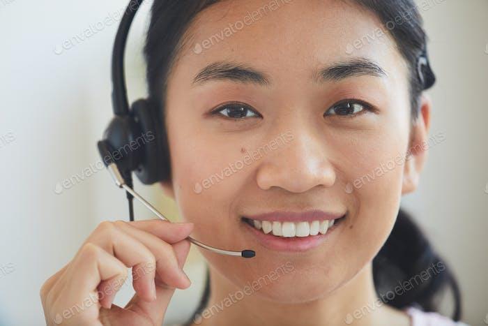 Asian operator at work