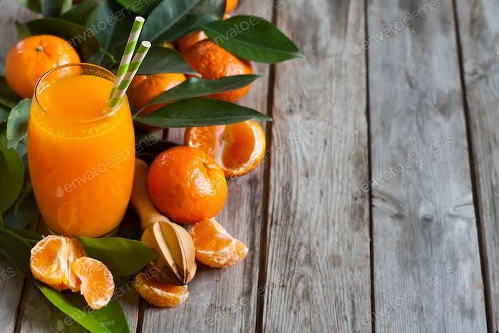 Tangerine juice background