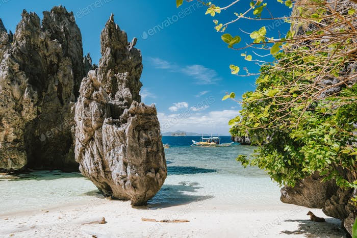 Geheime Lagune El Nido Palawan, die Philippinen
