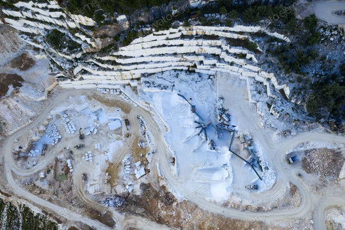 Marble quarry site in Thassos, Greece