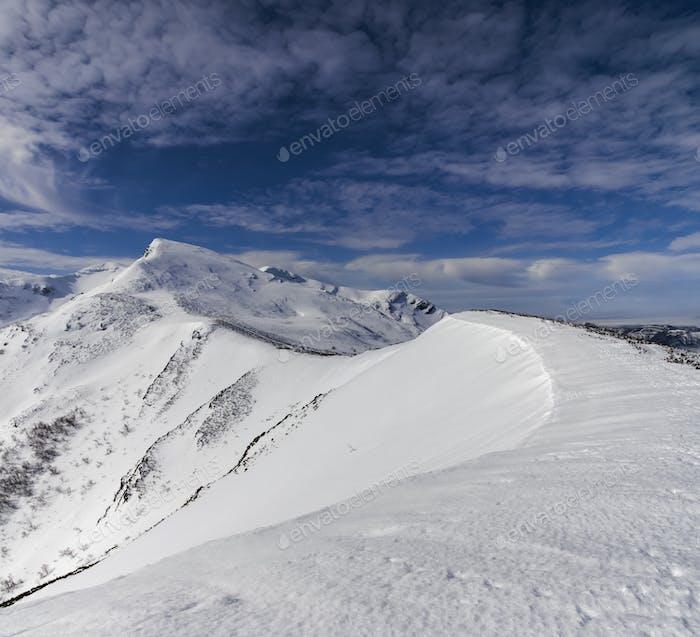 Cresta de la montaña Ancares