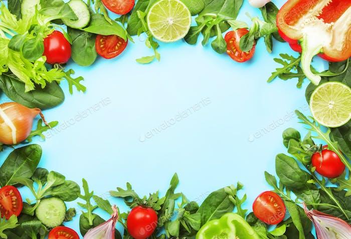 Ingredients for cooking salad