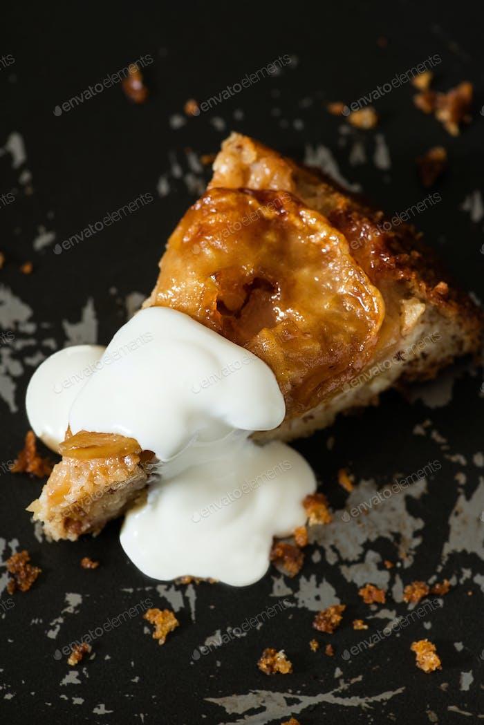 Upside Down Apple Cake with yogurt