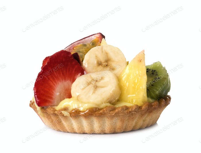 fruit tartlet in studio