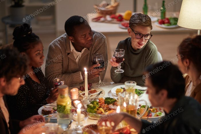 Holiday dinner with friends