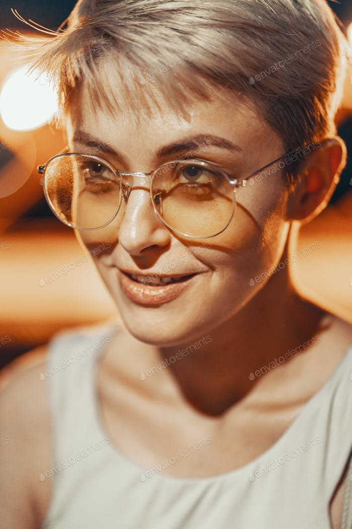 Thumbnail for Attractive hipster girl in eyewear