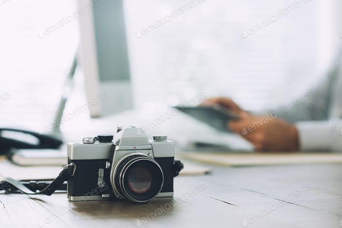 Professional photographer at the agency