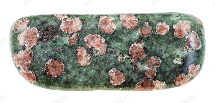 pebble of Eclogite stone isolated