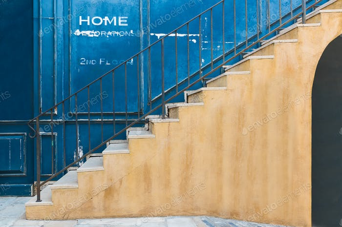 The vintage stair_