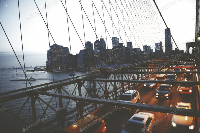 Brooklyn Bridge New York City Urban Metropolitan Concept